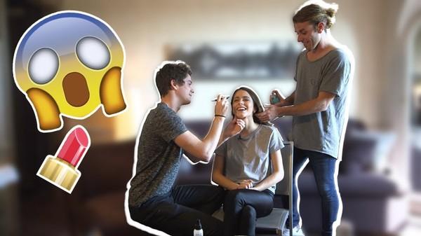 FRAN y PANCHI me peinan y maquillan 💅 💁 #TiniYouTube | TINI