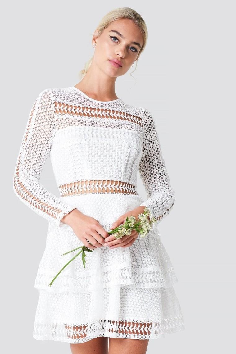 Crochet Dot Dress Linn Ahlborg NA-KD - Robe de Soirée NA-KD - Iziva.com