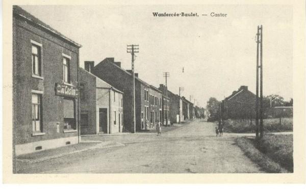 Wanfercée Baulet - Le Castor - Carte postale ancienne et vue d'Hier et Aujourd'hui