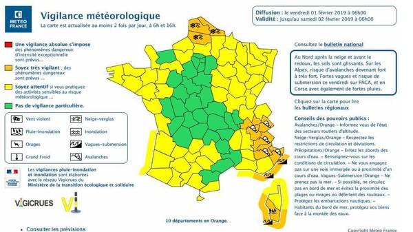 EN DIRECT - Météo : fin de l'alerte neige-verglas dans le Nord, 7 départements toujours en vigilance orange
