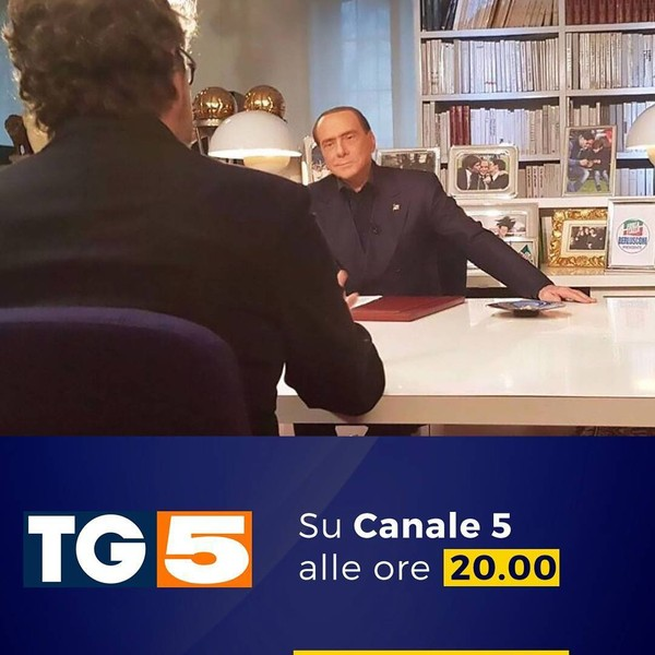"""Silvio Berlusconi on Instagram: """"Questa sera non perdete la mia intervista al #TG5, edizione delle 20:00."""""""