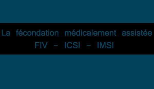 Fécondation in vitro - FIV, ICSI et IMSI