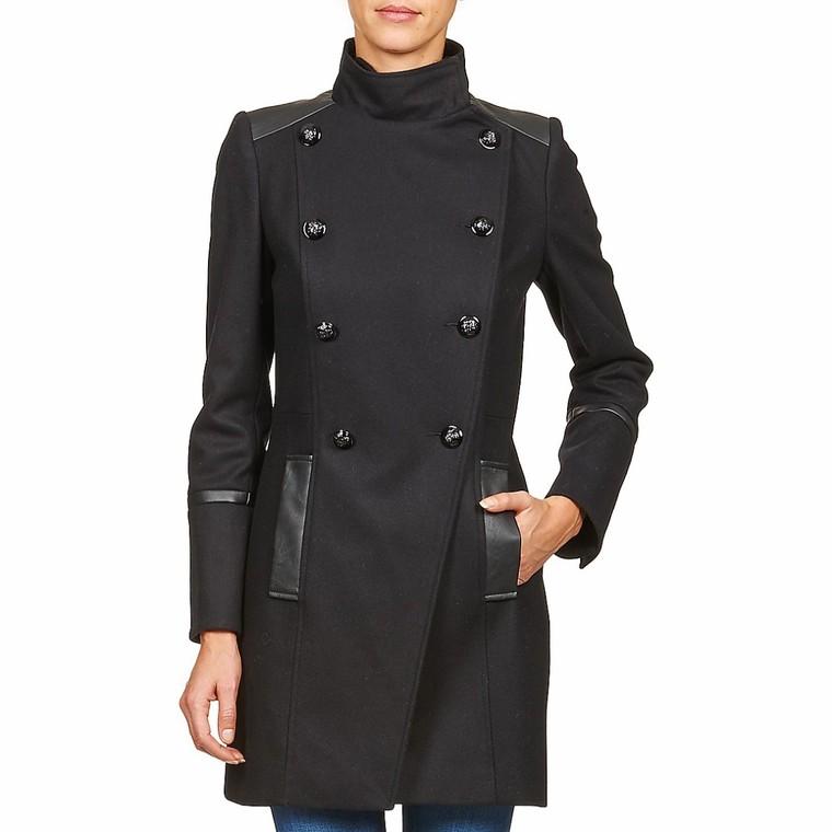 manteau naf naf allyo noir manteau femme spartoo tendance mode femme. Black Bedroom Furniture Sets. Home Design Ideas