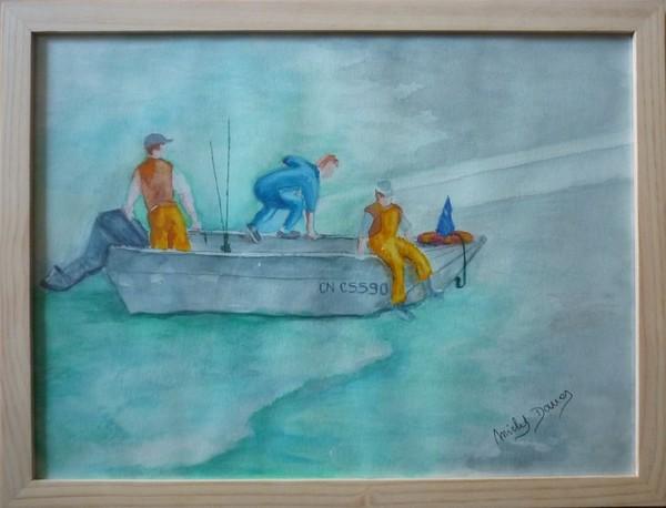Michel des Arves Artiste Peintre » Archives du Blog » L'arrivée à terre aux Grandes Dalles