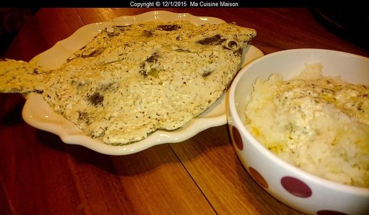 TURBOT SAUCE PETIT-SUISSE AUX HERBES ET EPICES CITRONNES (recette maison) - Ma Cuisine Maison