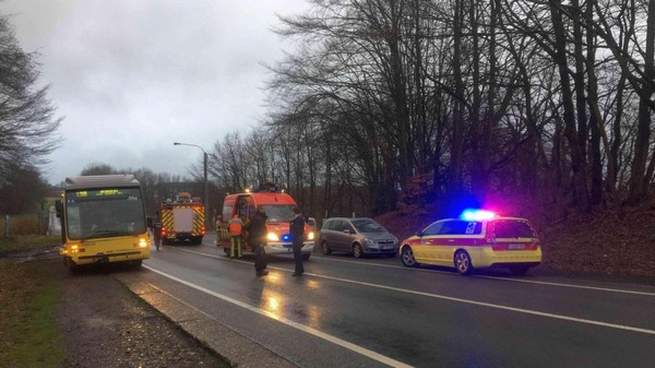Deux blessés dans une collision avec un bus à Chaineux