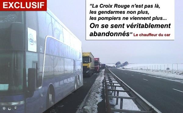 60 élèves bruxellois coincés sur une autoroute en France depuis deux jours !