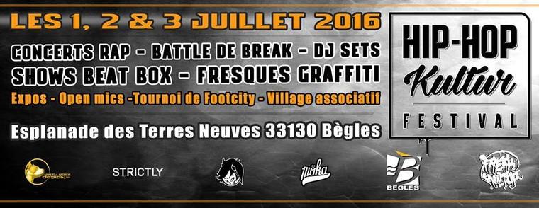 Graffiti, Open Mic et concerts Rap - Hip-Hop Kultur Festival@BEGLES