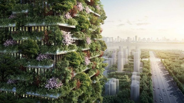 China is building a vertical forest to fight pollution