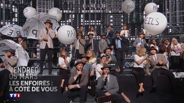"""Les Enfoirés on Instagram: """"Le vendredi 05 mars à 21h05 sur TF1 et en simultané sur France Bleu, laissez-vous entrainer dans un spectacle tout en sobriété et plein…"""""""