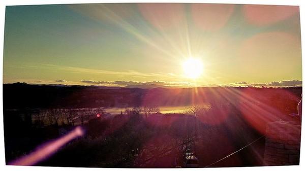 Vue vers le sud depuis les hauteurs de Vézénobres, fin de journée le temps est magnifique et doux pour une fin décembre