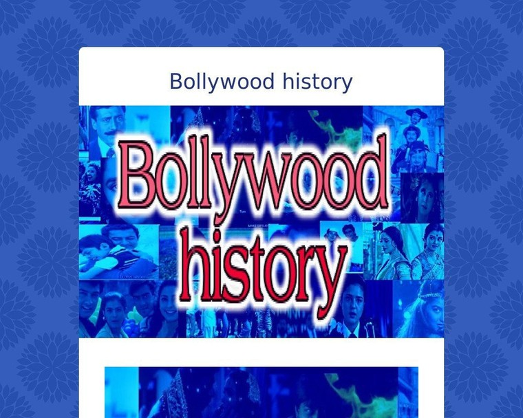 Bollywood history - Tackk