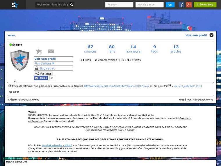 VENEZ – Venez tchater avec d'autres pers..! | Mag90Recherche