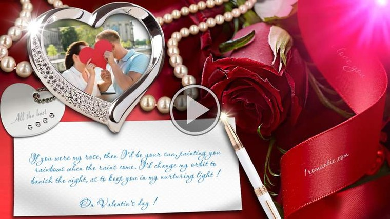 On Valentin's day ! All the best - Поздравления с днем рождения