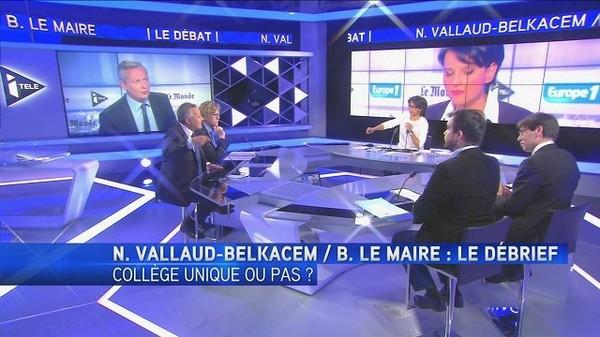 Le débrief du débat N. Vallaud-Belkacem/Bruno Le Maire
