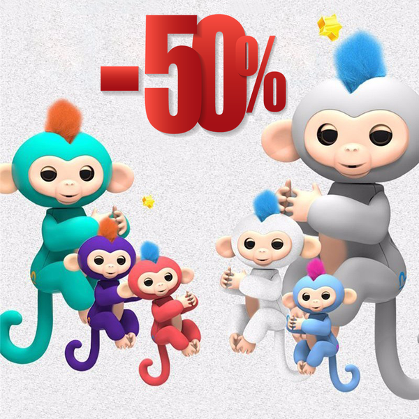 Fingerlins Interactive Baby Monkeys For Kids Children Christmas Gift +Free shipping