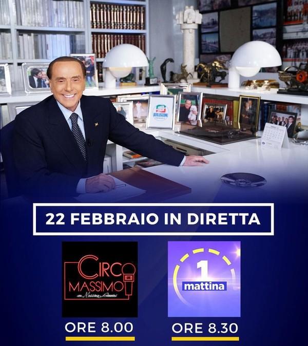 """Silvio Berlusconi on Instagram: """"Questa mattina potrete seguirmi in un doppio appuntamento: alle ore 8.00 sarò intervistato da Massimo Giannini a Circo Massimo di Radio…"""""""