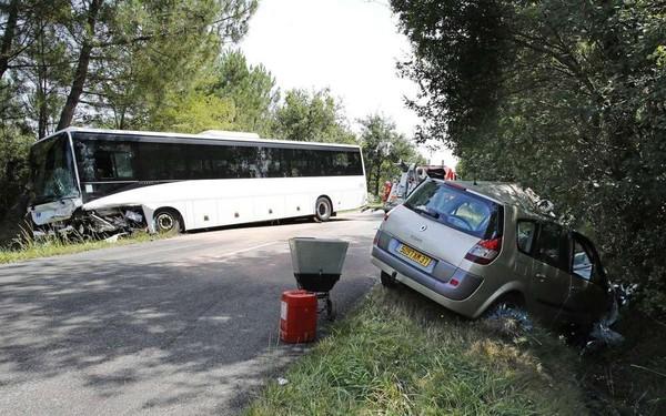 Landes: grave collision entre un bus et une voiture, un mort