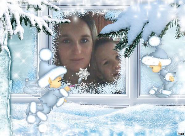 Résultat du montage photo : Enfants Elfes Hiver Neige Noël - Pixiz