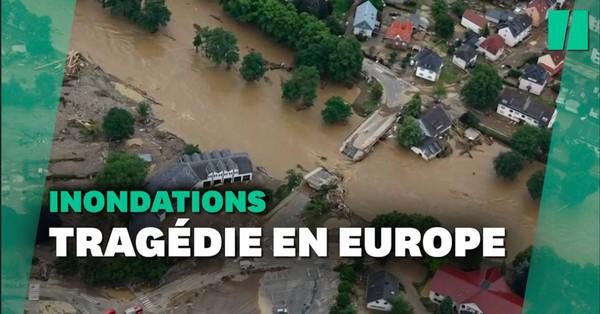 Les terribles images des inondations en Allemagne et en Belgique vues du ciel