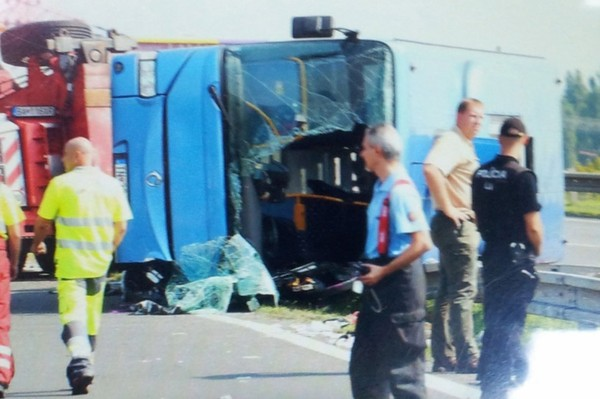 4 Brit tourists injured after Slovaki bus crashes into lawnmower