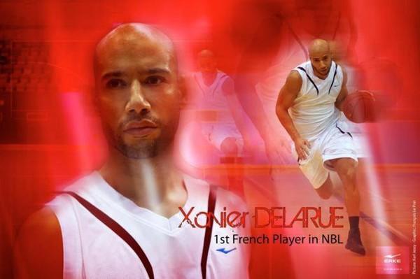 Xavier Delarue 1er ambassadeur de la marque ERKE dans le basket-ball professionnel