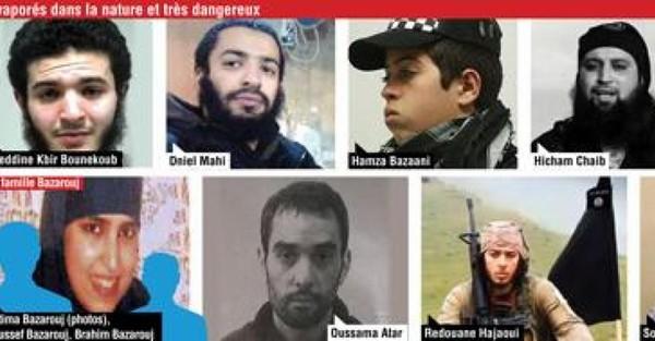 Ces terroristes belges qui nous menacent encore: ils sont plus de dix à être recherchés activement par les autorités