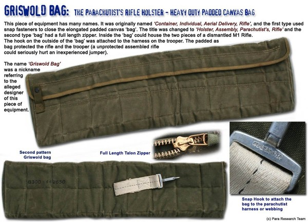 Para Research Team � - Griswold Bags: The Paratroopers Rifle Assembly Holsters
