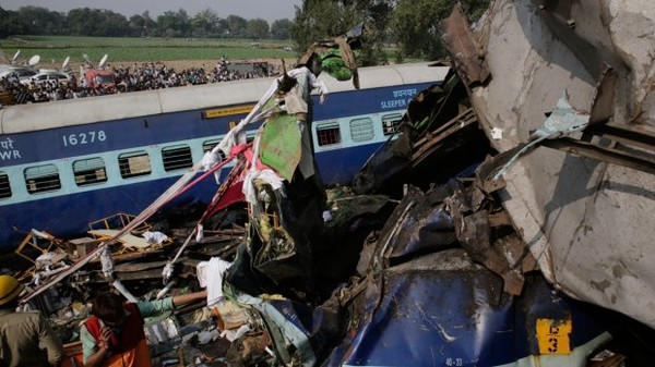 Search for bodies at Indian train crash site ends; 145 dead