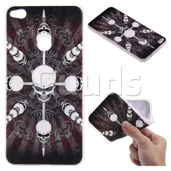 Compass Skulls 3D Relief Matte Soft TPU Back Cover for Huawei P8 Lite 2017 / P9 Honor 8 Nova Lite - TPU Case - Guuds