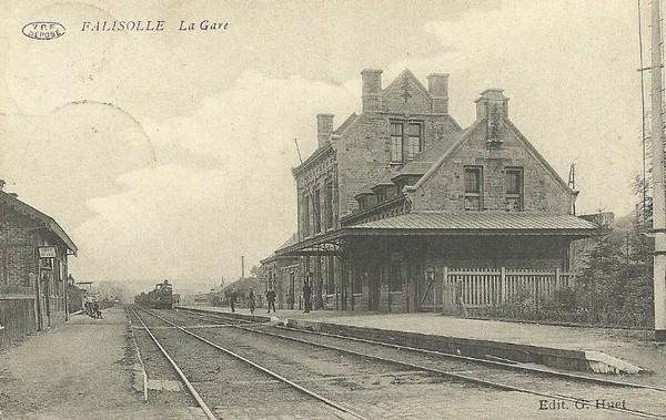 Les gares belges d'autrefois. La gare de Falisolle et environs. Guy Demeulder.