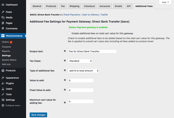 WooCommerce Payment Gateway based Fees 3.0.1 Extension - Get Lot