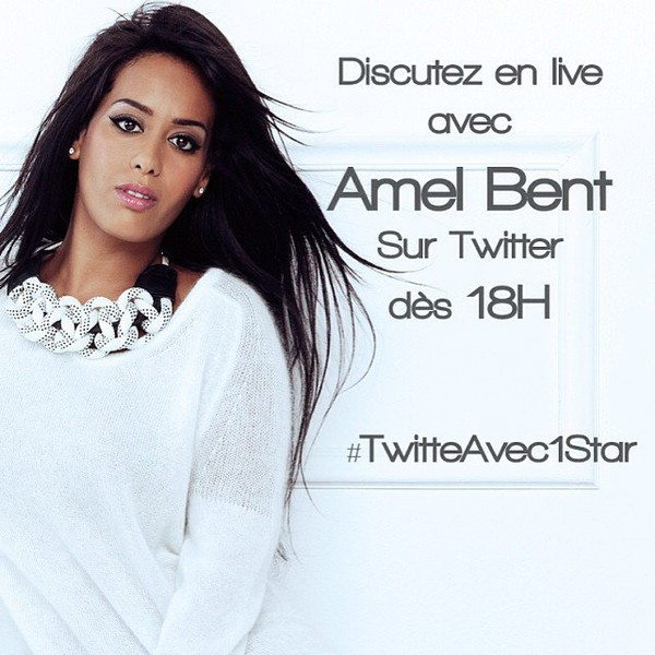.@aufeminin_com | #livetweet avec #AmelBent à 18h cc @inst_amel | Webstagram