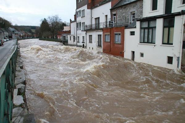 Plusieurs cours d'eau wallons en phase d'alerte et pré-alerte de crue