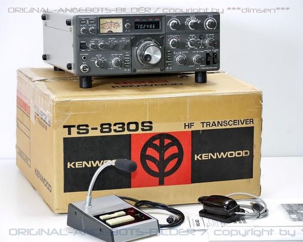 KENWOOD TS-830S Silver-Label HF TRANSCEIVER/KW Kurzwellensender CW/SSB!VERY NICE