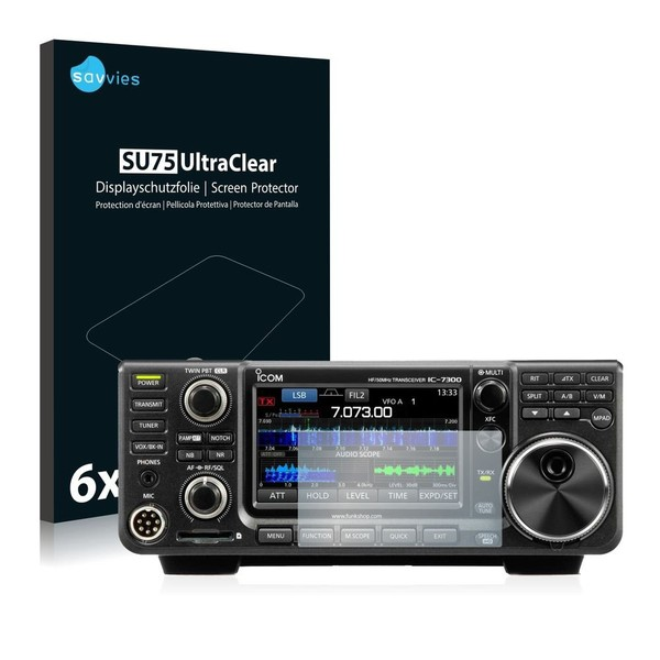 6x Savvies Displayschutzfolie für ICOM IC-7300 Schutzfolie Klar | eBay