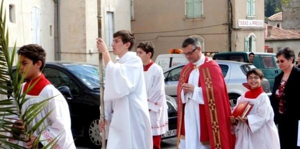 Anduze. Le Dimanche des Rameaux a été célébré dans la plus pure tradition à l'église catholique