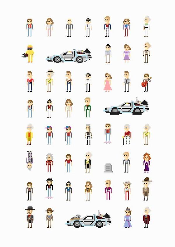 Alien, Retour vers le Futur, Star Wars… – Les personnages de films cultes en version 8-bit | Ufunk.net