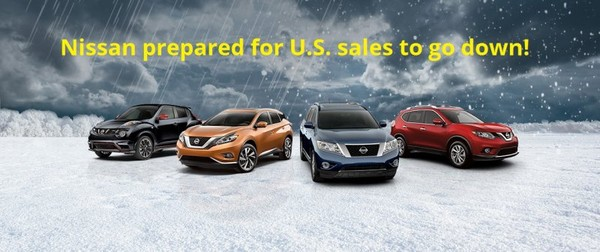 Nissan prepared for U.S. sales to go down!