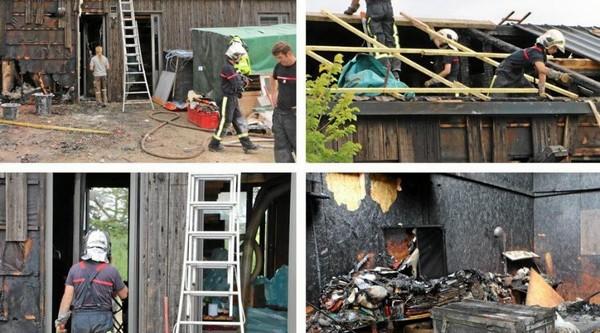 Le feu détruit deux locaux professionnels