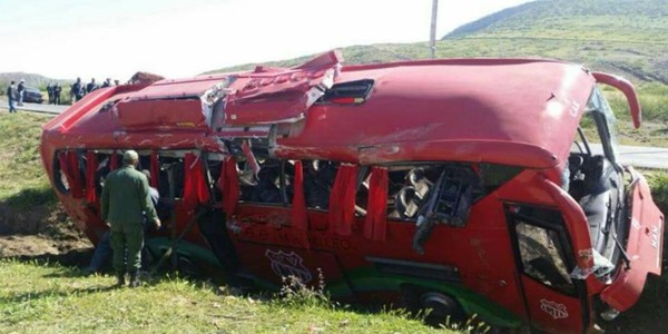 Encore un accident d'autocar transportant des sportifs au Maroc (PHOTOS)